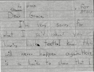 Second Grade Apology Haiku