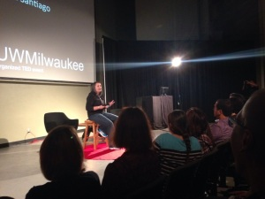 Sara Santiago speaking TEDxUWMilwaukee 2014