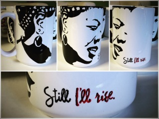 Maya Angelou Hand painted mug from Sconnie Life on Etsy.