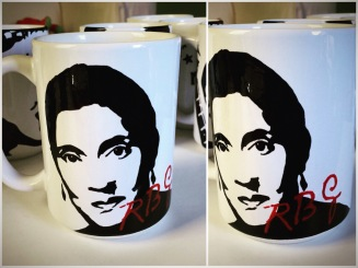 Ruth Bader Ginsburg Hand painted mug from Sconnie Life on Etsy.