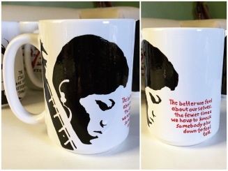 Odetta Hand painted mug from Sconnie Life on Etsy.