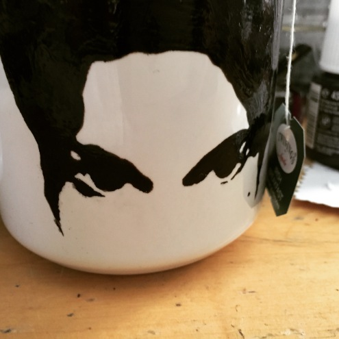 Prince Hand painted mug from Sconnie Life on Etsy.