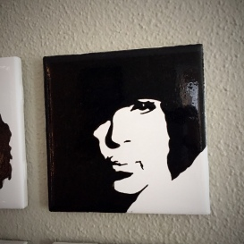 Prince Series Hand painted tiles from Sconnie Life on Etsy.
