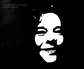 Janis Joplin #BeBraveBrain Original painting by Sara Santiago