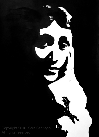 Virginia Woolf Original painting by Sara Santiago