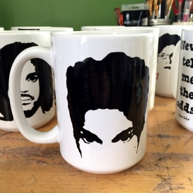 Hand painted mugs by Sara Santiago - Sconnie Life on Etsy.